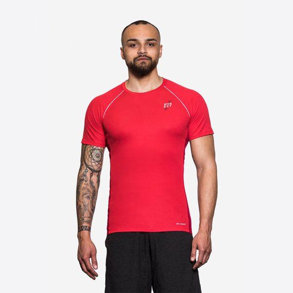 Sportshirt Herren Rot Nachhaltige Sportkleidung