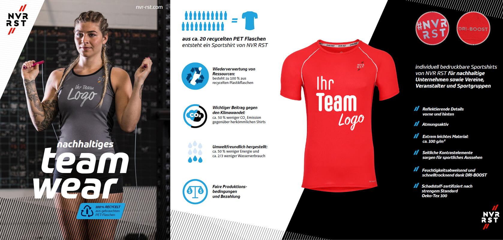 Nachhaltige Sportshirts für Firmen und Vereine